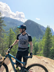 In Search of Singletrack MTB Mountain Bike Jersey with a bike