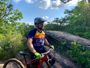 Go Ride Your Bike MTB Mountain Bike Jersey riding a trail