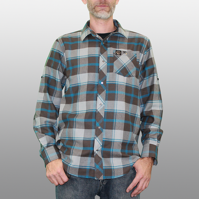 Men's Cognative Technical Flannel - Factory Second (Grey/Blue)