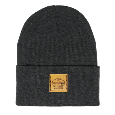 In Search of Singletrack Beanie (Tan Patch)