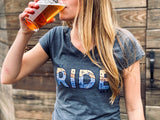 Let's ride bikes womens mtb shirt