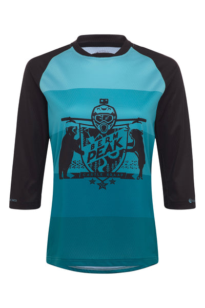 WOMEN'S BERM PEAK - 3/4 SLEEVE TECH 2.0 JERSEY (TEAL)