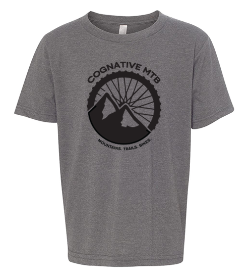 Cognative Logo Youth Shirt (Heather Grey)