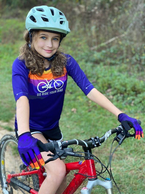 Youth Go Ride Your Bike - 3/4 Sleeve MTB Tech 2.0 Jersey