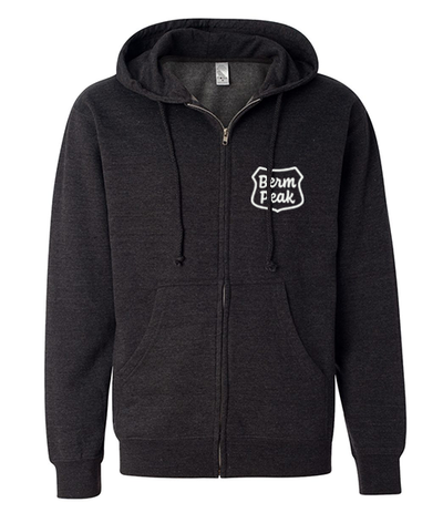 BERM PEAK RANGER LOGO UNISEX FULL-ZIP HOODIE (HEATHER CHARCOAL)