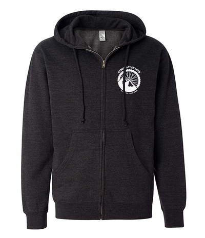 COGNATIVE LOGO UNISEX FULL-ZIP HOODIE (HEATHER CHARCOAL)