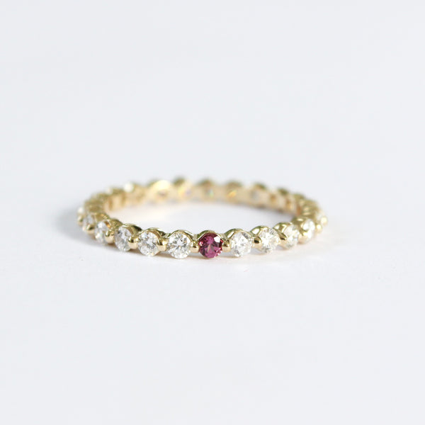 Custom Stories: Diamond & Birthstone Eternity Ring Mary Frances Maker