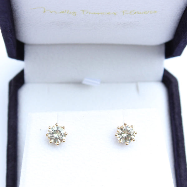 Custom Stories: White Sapphire Studs Mary Frances Maker