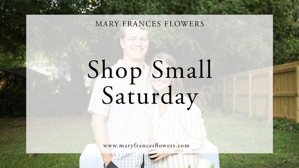 Small Business Saturday Mary Frances Maker
