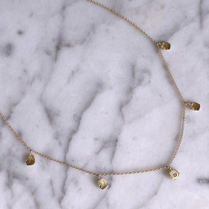 Birch Drip Necklace, Gold Mary Frances Maker