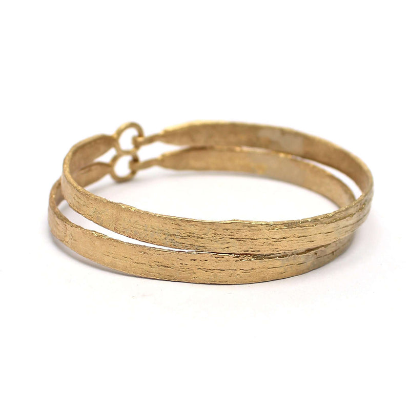 Birch Skinny Bangle, Brass Mary Frances Maker