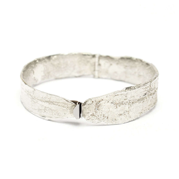 Birch Wide Bangle, Silver Mary Frances Maker