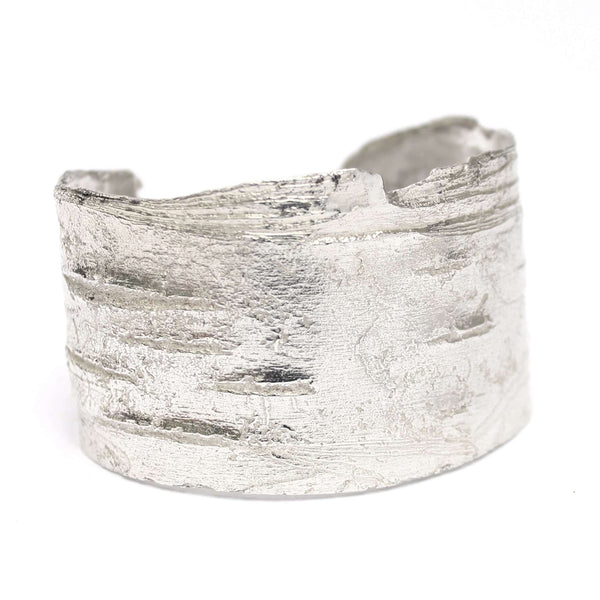 Birch Wide Cuff, Silver Mary Frances Maker