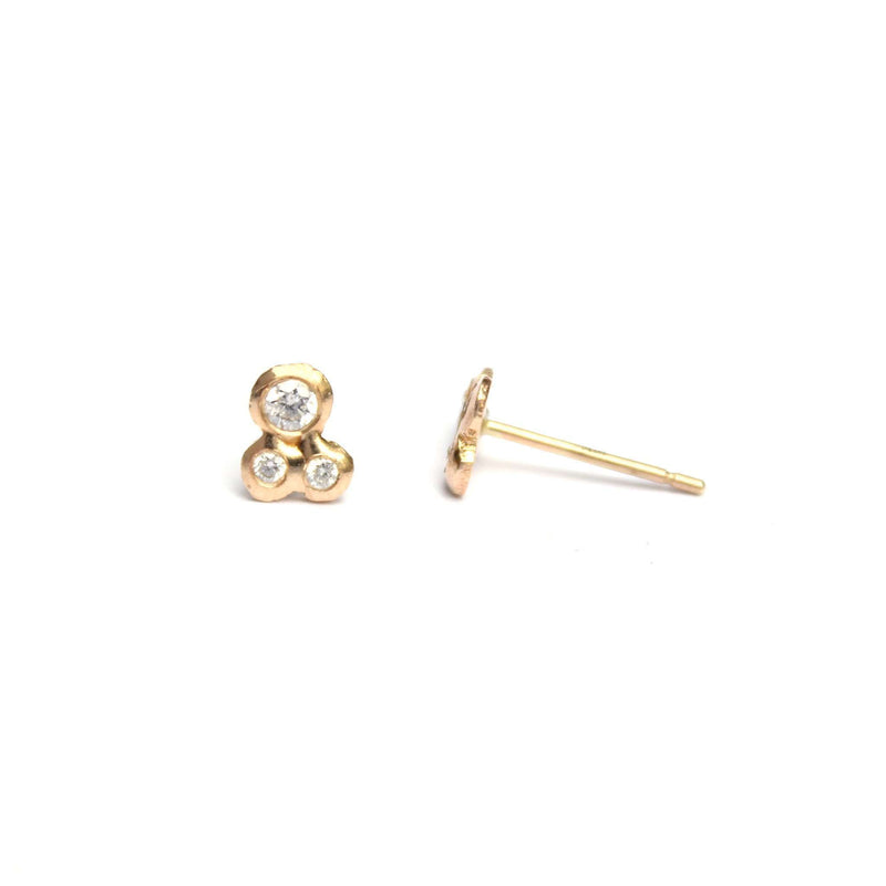 Semi-Custom Cluster Trio Studs, Gold Mary Frances Maker