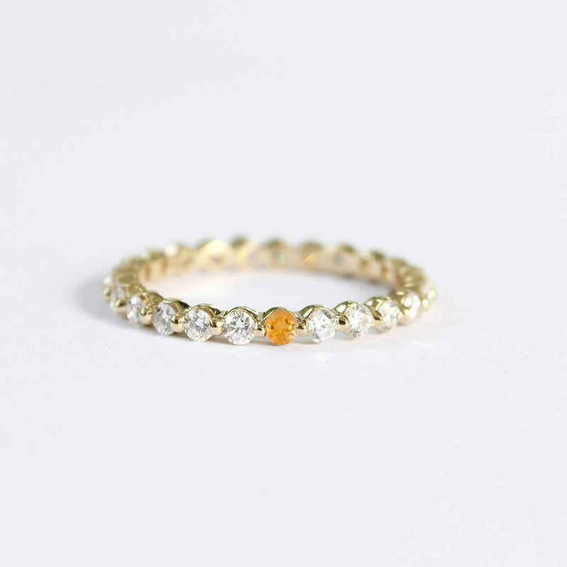 Semi-Custom Diamond & Birthstone Eternity Ring Mary Frances Maker