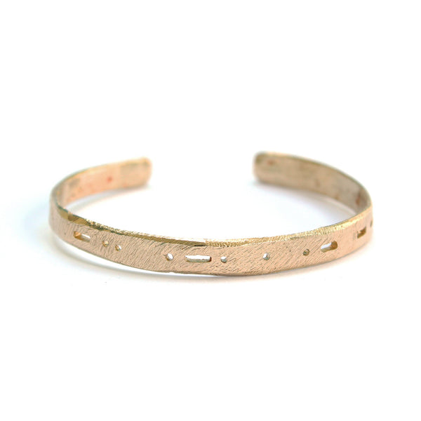 Semi-Custom Morse Code Cuff, Brass Mary Frances Maker
