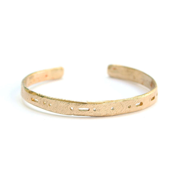 Semi-Custom Morse Code Cuff, Gold Mary Frances Maker