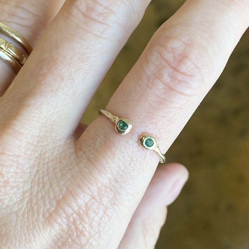 Semi-Custom Open Birthstone Ring, Gold Mary Frances Maker