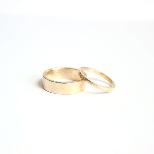 Squared Wedding Ring Set Mary Frances Maker