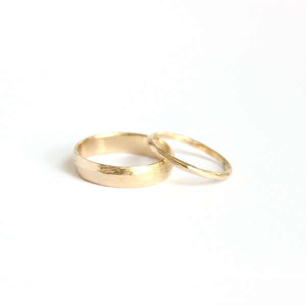 Textured Wedding Ring Set Mary Frances Maker