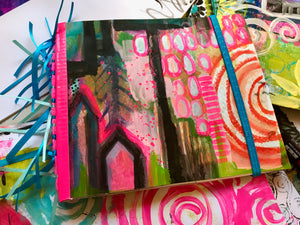 Colorful Art Journal Happy Joyful Goodness Mixed Media Robin Mead