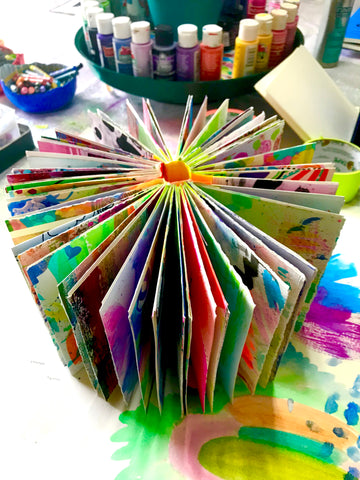 colorful pages art journal by robin mead
