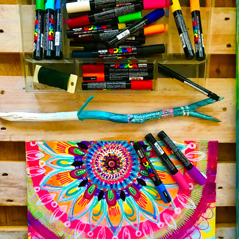 robin mead colorful mandala in the making