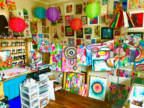 art studio, robin mead, robin mead art, robin mead art studio, my beautiful mess,