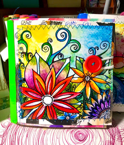 Paper Bag Journal The Garden  6 x 6Journal