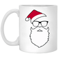 Hipster Santa Christmas Coffee Mug
