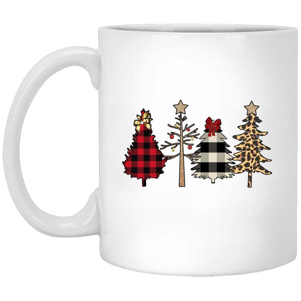 Plaid Trees Christmas Coffee Mug