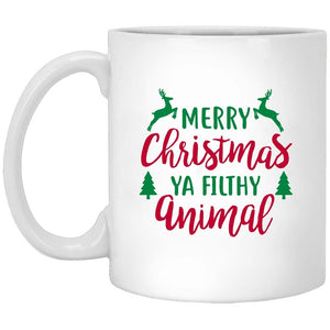 Merry Christmas Ya Filthy Animal Christmas Coffee Mug