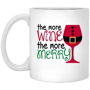 more Wine More Merry Christmas Coffee Mug
