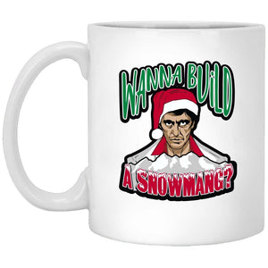 Wanna Build A Snowman Christmas Coffee Mug