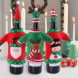 Christmas Wine Bottle Ugly Sweater 3 Pack