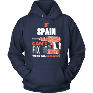 If Spain Can't Fix It We're All Screwed T Shirts-New Wave Tee