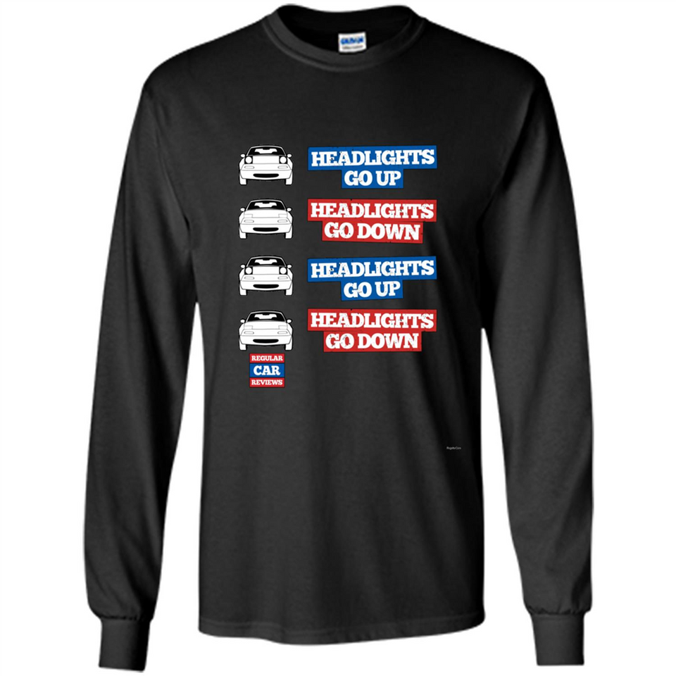 """Headlights Go Up/Down"" Miata MX-5 tshirt-New Wave Tee"