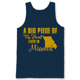 A Big Piece Of My Heart Lives In Missouri T Shirts-New Wave Tee
