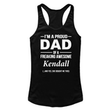 I'm A Pround DAD Of A Freaking Awesome Kendall T Shirts-New Wave Tee