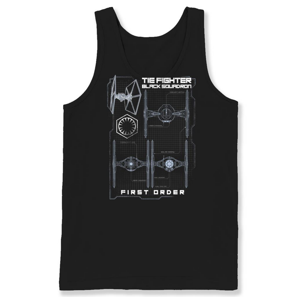 Tie Fighter Black Squadron Star Wars T Shirts