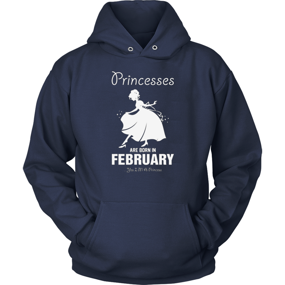 Princesses Are Born In February T Shirts-New Wave Tee