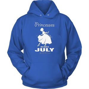 Princesses Are Born In July T Shirts-New Wave Tee
