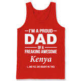 I'm A Pround DAD Of A Freaking Awesome Kenya T Shirts-New Wave Tee