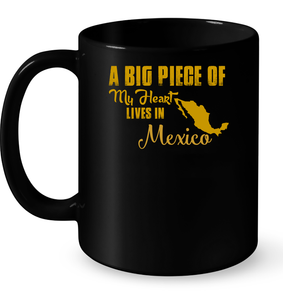 A Big Piece Of My Heart Lives In Mexico T Shirts-New Wave Tee