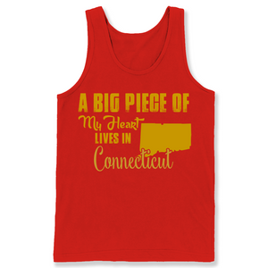 A Big Piece Of My Heart Lives In Connecticut T Shirts-New Wave Tee