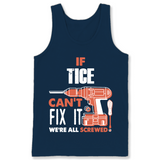 If Tice Can't Fix It We're All Screwed T Shirts-New Wave Tee