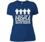 4 Out 3 People Struggle With Math Grandparents Day Shirts-New Wave Tee