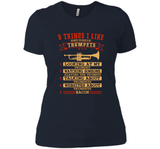 5 Things I Like Almost As Much As Trumpets 1 Looking At My Trumpets T Shirts-New Wave Tee