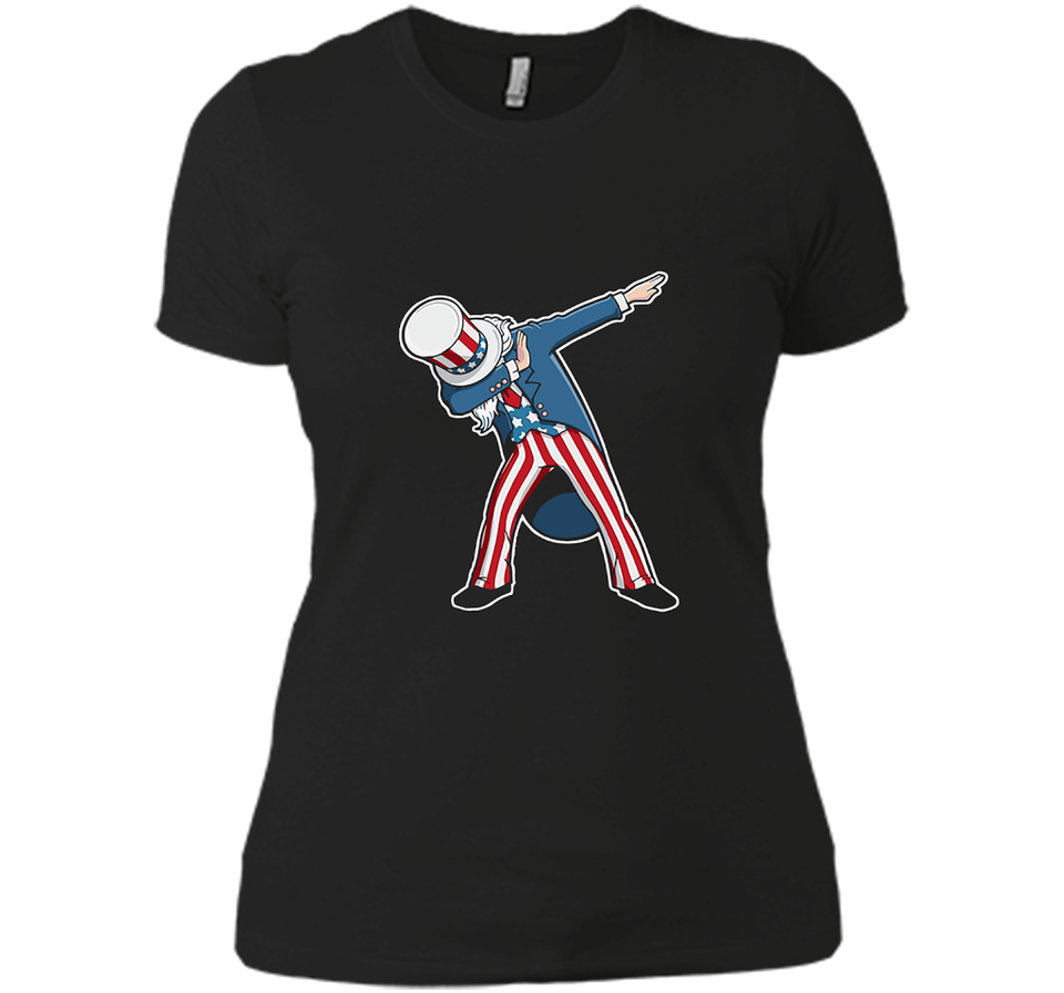 4th of July Dabbing Uncle Sam T Shirts-New Wave Tee