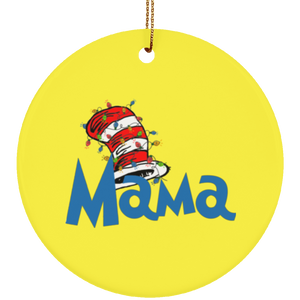 Dr Sesuss Family Christmas Mama Ceramic Ornament